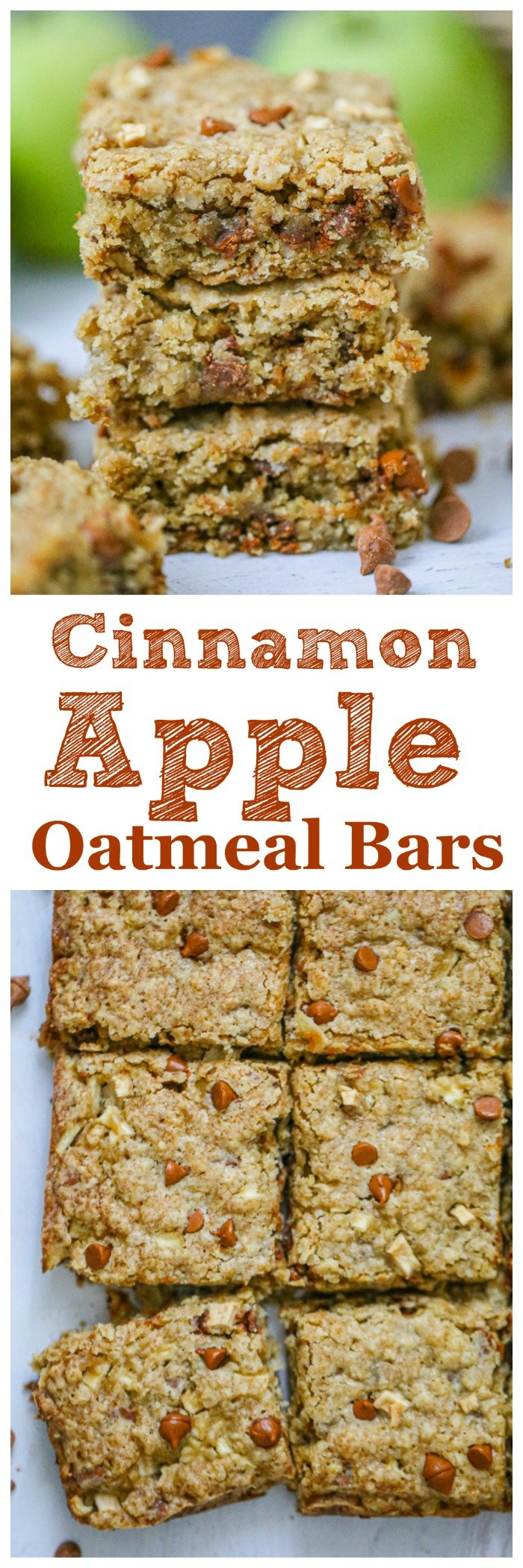 Cinnamon Apple Oatmeal Bars