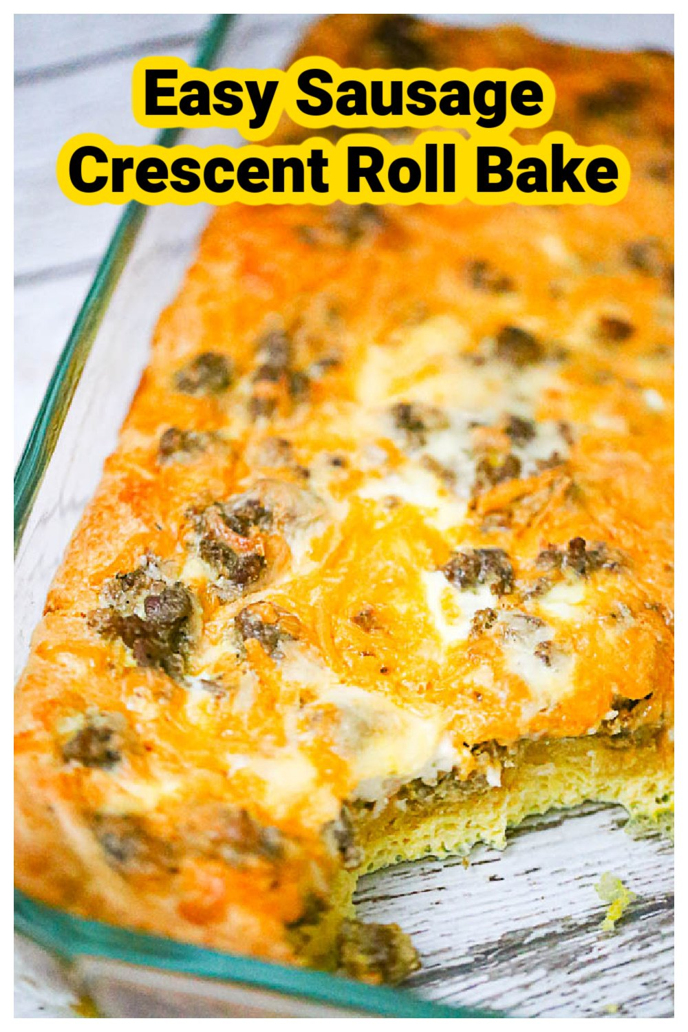 Easy Sausage Crescent Roll Bake