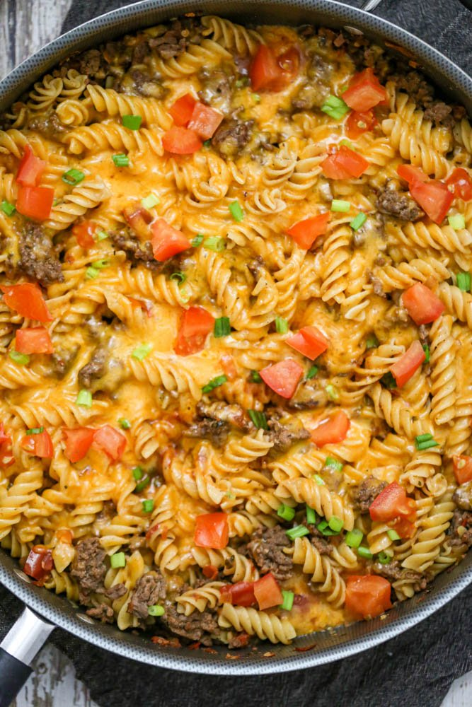 Cheesy Taco Ground Beef Pasta